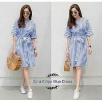 Dress mini Dress selutut Dress stripe Dress wanita Dress cewek Baju wa