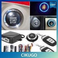 Car Keyless Entry Engine Start Alarm System Push Button Remote