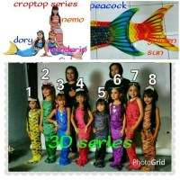 baju renang putri duyung size anak L 8-10TH / 23-30KG ( mermaid set )