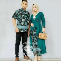 ready dua warna baju couple kapel cople kemeja hem kebaya modern batik