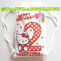 Goodiebag Tas Souvenir Ulang Tahun Ransel Blacu Hello Kitty School Kid