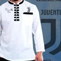 Baju Koko Akhtar Juventus White   Black