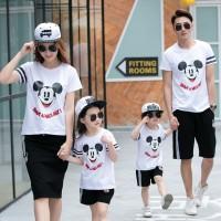 Baju Couple Family Mickey Nice Day 2 Anak- Fashion Kaos Keluarga Murah