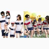 Baju Couple Family Bendera Pocket 2 Anak - Fashion Kaos Keluarga Murah