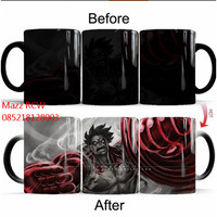 Gelas Magic One Piece Luffy Color Changing Coffee Mug Heat