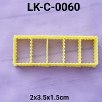 LK-C-0060 Cetakan kue kering cookie cutter persegi panjang