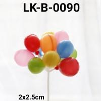 LK-B-0090 Topper kue tart lokal topper cake balon plastik
