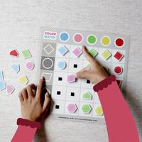 Busy Page Menyamakan Bentuk dan Warna (dengan magnet)