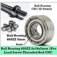 Ball Bearing Bushing 688ZZ 8mm CNC 3D Printer Lead Screw Rod