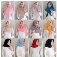 Jilbab Segi Tiga Instan Diamon murah Berkualitas