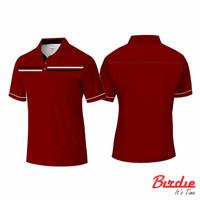 Baju Polo Shirt Simple Elegant Red