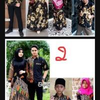 Baju Batik Keluarga Part 4   Ayah, Ibu, Anak Cewek dan Cowok