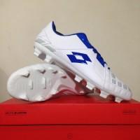 Sepatu Bola Lotto Squadra FG White Dawn Blue L01010012 Original BNIB