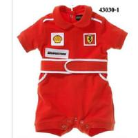 Baby Romper Ferrari Boy Baju Balap Anak - 0-6m