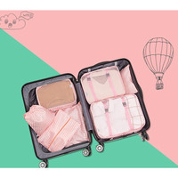 Tas Travel 7 IN 1 Traveling Bag Koper (1 set isi 7 pcs organizer)