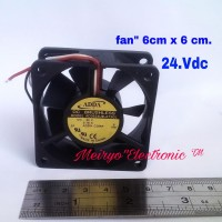 Fan.24 Vdc 3 kabel( ADDA BRUSHLESS/6cm x 2,5.cm) 24.Vdc/0,16.A