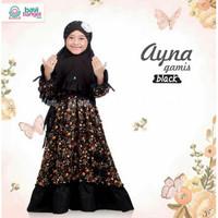 GAMIS ANAK AYNA BLACK 6-7TH UKURAN XL Pakaian Muslim Anak Jilbab
