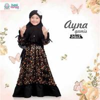 GAMIS ANAK AYNA BLACK SIZE XXL UNTUK ANAK 7-12THN Pakaian Baju Muslim