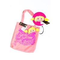 Surfer Girl X TASINI Foldable Shop Bag Pink 18SEPASBS01PNK