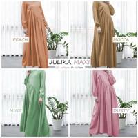 Julika Maxy Dress Ibu Hamil Bumil besar Baju Muslimah gamis cewek adem