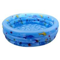 Crystal Swimming Pool 90cm. Kolam Renang Karet Anak - Pink pompa