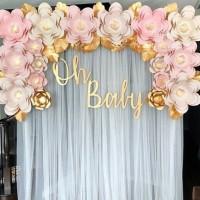Paper Flower Backdrop Premium 01