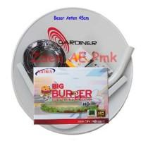 Paket Dish Antena Parabola Mini ODU 45cm Ninmedia Receiver Matrix Mp e