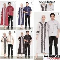 Baju Couple Muslim Gamis Renda - Baju Koko Kurta Grosir PGMTA