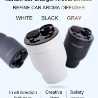 NANUM KGQ01 - Car Aroma Diffuser with Car Charger Lighter and USB Port