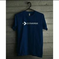 Tshirt kaos baju pria big size 2xl 3xl 4xl CONVERSE KEREN - Biru Muda