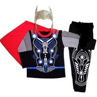 Baju Kostum Topeng Anak Superhero Thor Avenger Avengers Tanpa Palu