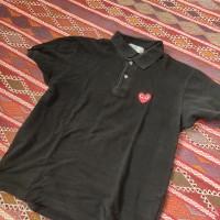 Comme Des Garçons Play (Preloved) - CDG Play Polo Shirt black size L