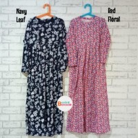 Gamis Rukayyah Baju Muslim Dress Kaos Anak Perempuan 10-12 tahun