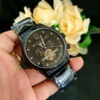 Jam Tangan Pria BVLGARI Fabrique Black Automatic Premium