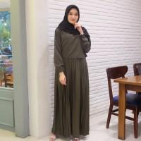 BAJU WANITA Gamis Kira Maxi Army / gamis termurah / Dress Muslim