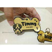 Sz L Liontin / bandul / nametag AJA anjing kucing custom request murah