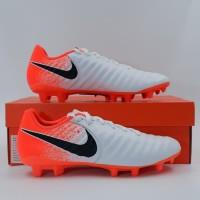Sepatu bola Nike tiempo legend 7 Academy FG White orange Original