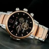Jam Tangan Pria BVLGARI Fabrique Rosegold Black Automatic Premium