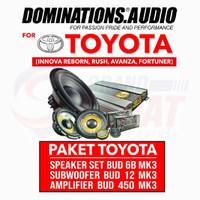 Paket Audio Dominations Toyota (Innova Reborn, Rush, Avanza, Fortuner)