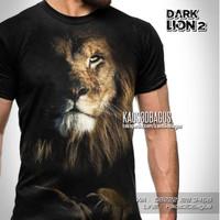 Baju Kaos SINGA LION Animal DARK LION 2 Harimau Macan Tiger