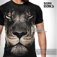 Kaos Baju SINGA LION Animal Macan Harimau Tiger DARK LION 3