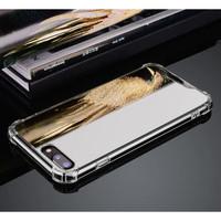 Xiaomi redmi 5 PLUS Luxury mirror case anti crack kaca casing cermin - SILVER