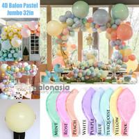 Balon 4D Latex Pastel Jumbo Bulat 32in