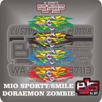 stiker striping list motor mio smile mio sporty doraemon zombie