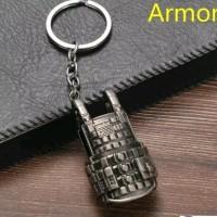 Gantungan Kunci Key Chain PUBG Mainan Armor Vest Game Online Bahan