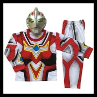Baju Fashion Anak Laki Kostum Topeng Superhero Costume Ultraman Go