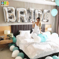 Balon Foil Huruf Angka JUMBO Silver 100cm
