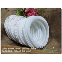 GBAND-05 : Grosir Bando Anti Patah Putih 1cm (per 72 buah)