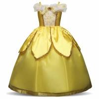baju/kostum pesta Belle baju princess anak