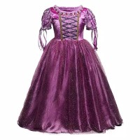 baju pesta/baju princess Disney kostum Rapunzel anak perempuan - 3-4 tahun